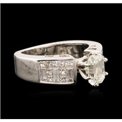 14KT White Gold 1.63 ctw Diamond Ring