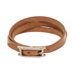 Hermes Natural Vachetta Leather Hapi 3 Multi Tour Bracelet