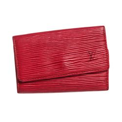 Louis Vuitton Red Epi Leather 6 Key Holder