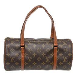Louis Vuitton Monogram Canvas Leather Vintage Papilon 26 cm Shoulder Bag
