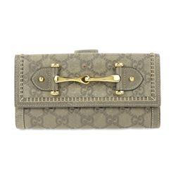 Gucci Grey Guccissima Hook Wallet
