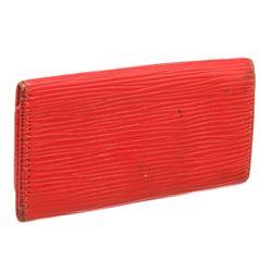 Louis Vuitton Red Epi Leather 4 Key Holder