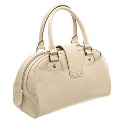 Louis Vuitton White Epi Leather Bowling Montaigne GM Bag