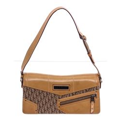Christian Dior Vintage Brown Diorissimo Canvas Leather Shoulder Bag