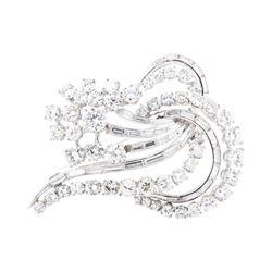 5.64 ctw Diamond Pin - 18KT White Gold