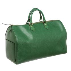 Louis Vuitton Green Epi Leather Speedy 40 cm Bag