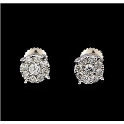 0.71 ctw Diamond Earrings - 14KT White Gold