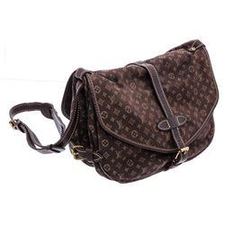 Louis Vuitton Brown Mini Lin Saumur 28 cm Crossbody Bag
