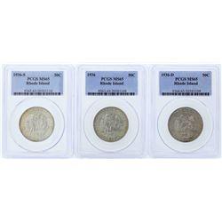 Set of (3) 1936-P/D/S Rhode Island Tercentenary Commemorative Half Dollar Coins