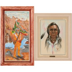 Native American Art, 2 Paintings  (117051)