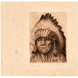 Original Signed Henry C. Balink Print of Chief Takee-Quala  (116031)