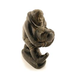 Serpentine & Black Marble Sculpture Native Alaskan  (83542)
