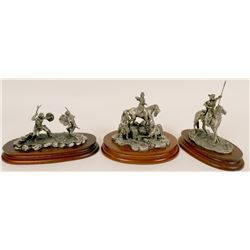 Indian Figures in Pewter  (117730)
