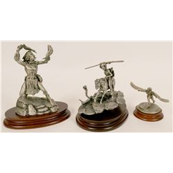 Native American Pewter Figures  (117731)