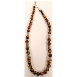 T&R Singer Family Tiger Eye Necklace  (117004)