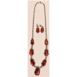 Spiny Oyster Necklace Set  (117008)