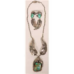 Beautiful Navajo Royston Turquoise Necklace Set  (117009)