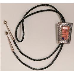 Robert Begay Inlaid Style Bolo  (117015)