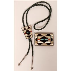 Zuni Bolo Tie with Matching Buckle  (117017)