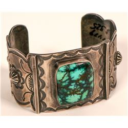 Dean Sandoval Silver and Turquoise Cuff  (117026)