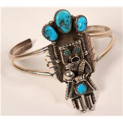 Turquoise Kachina Bracelet  (117035)