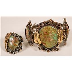 Vintage Navajo Bracelet and Ring  (117037)