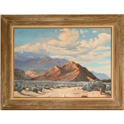 Desert Landscape - Painting by George Carter  (115334)
