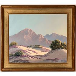 Desert Near Palm Springs – Painting by Kathi Hilton  (115338)