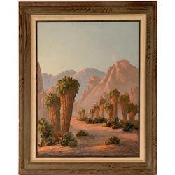 Desert Palms – Painting by Kathi Hilton  (115340)