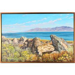 Pyramid Lake, Nevada – Painting by Mick McGinty  (115332)