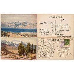 Rare Postcards of Nevada Artist Minerva Pierce Watercolors  (115740)