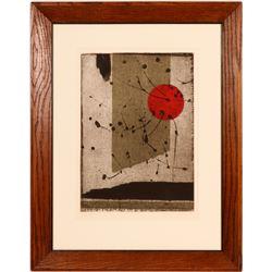 Sosaku Hanga Movement Abstract by Zoray Andrus  (115336)