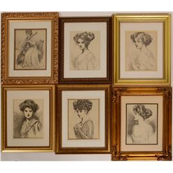 15 Antique Gold Frames  (110705)