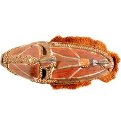 African Ceremonial Wood and Shell Mask  (87474)