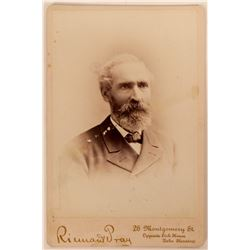 Cabinet Card of NB Hunnewill, Prominent Bodie & Bridgeport Rancher & Lumberman  (113164)