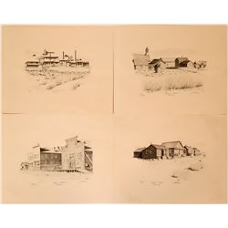 Four Bodie, California Prints  (115608)