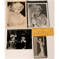 Mae West Autographed Check Plus Photos (116075)
