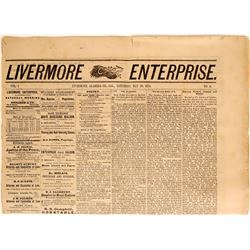 Livermore Enterprise Newspaper with Mark Twain Temperance Article  (115618)