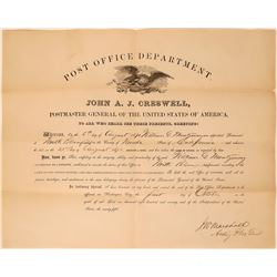 North Bloomfield Postmaster Appointment Certificate  (115604)