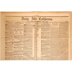 Daily Alta California Newspaper with Inaugural Address of President Franklin Pierce  (115619)