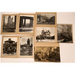 Group of Mounted Photographs of the 1906 San Francisco Earthquake  (115612)
