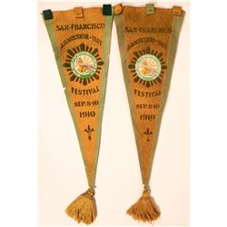 Two California Admission Pennants  (115691)