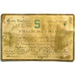 Santa Barbara State College Life Athletic Pass  (109024)