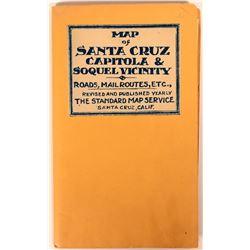 Pocket Map Santa Cruz Capitola Soquel  (116794)
