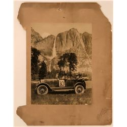 Mounted Photograph of Early Auto Tour at Yosemite  (115607)
