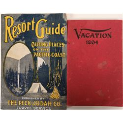 Early California Resort & Vacation Guides (2) Reviews and description of Tahoe & Donner areas in ear