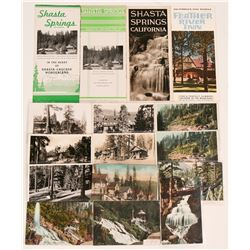 Famous Early Northern California Resorts -(2) Brochures 1968 and Postcards from 1920s and 1930s  (11
