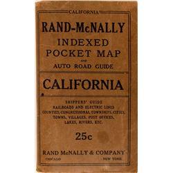 Rand-McNally Indexed Pocket Map California  (116834)