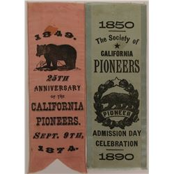 Society of California Pioneers Ribbons  (115624)