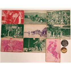 Transportation Pioneer Postcards & Tokens  (116343)